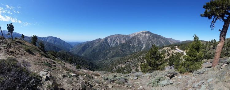 Mt. Baden-Powell and the Angeles Crest Highway from Lightning Ridge. Photo by Marcus C. England.