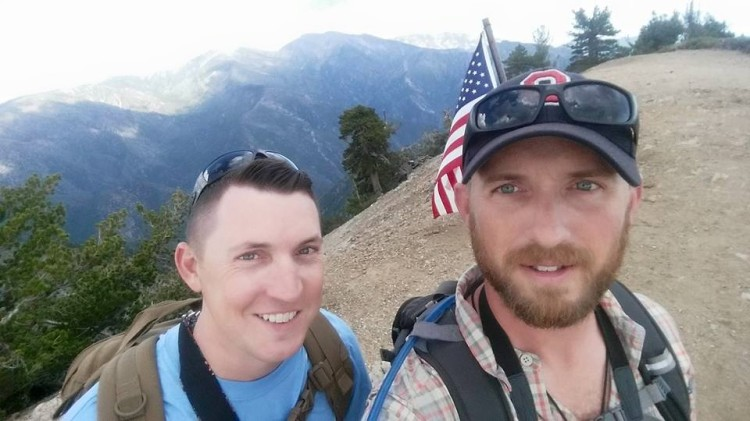 On the summit of Mt. Baden-Powell. Photo by Marcus C. England.