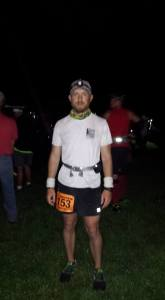 Me at the start line of the Mohican 100. Photo by my mom.