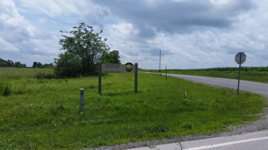 Killdeer Plains sign.