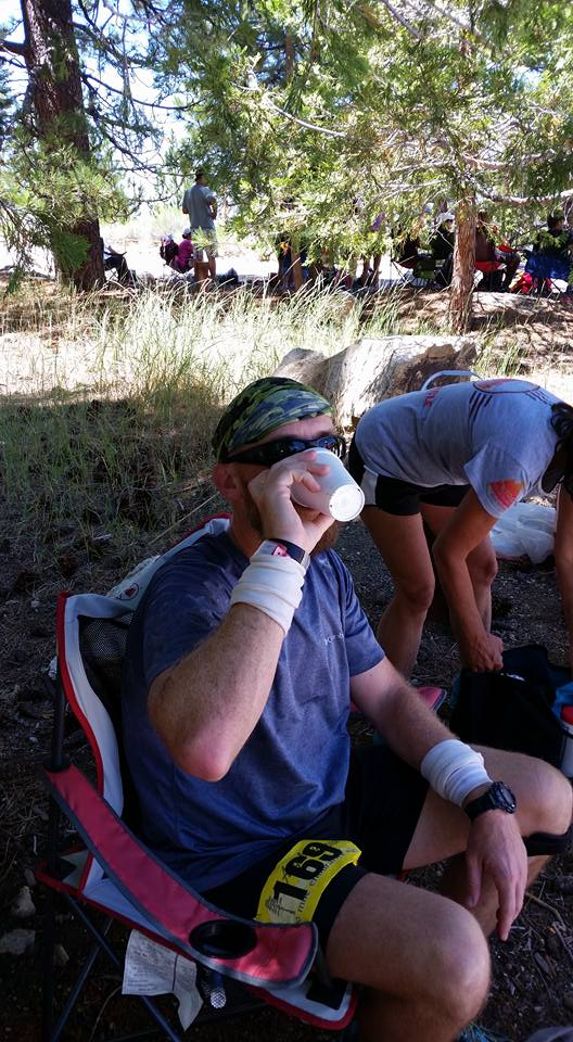 Hydrating at Eagle's Roost. Photo by Maleeh Molstad.