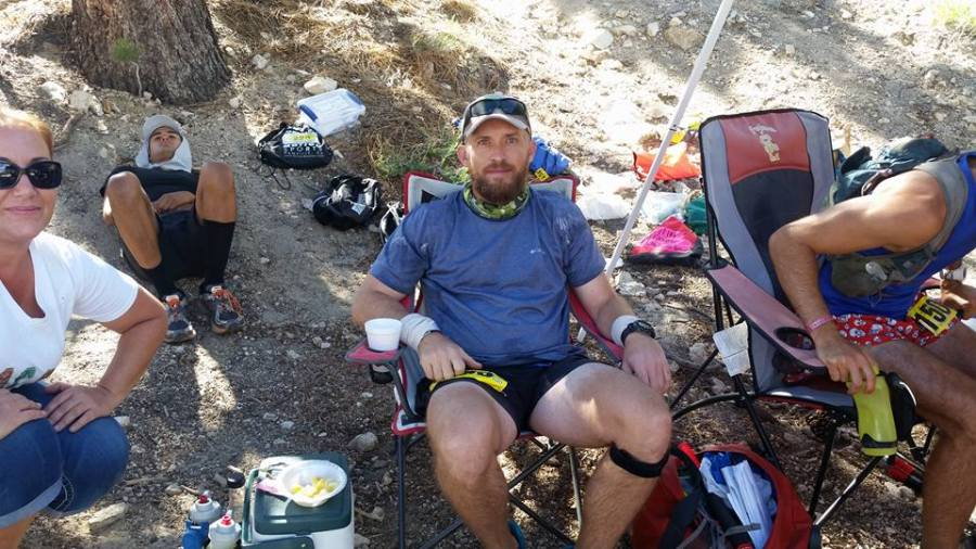 Trying to recover from Cooper Canyon at Cloudburst Summit. You can see it in my eyes. Photo by Maleeh Molstad.