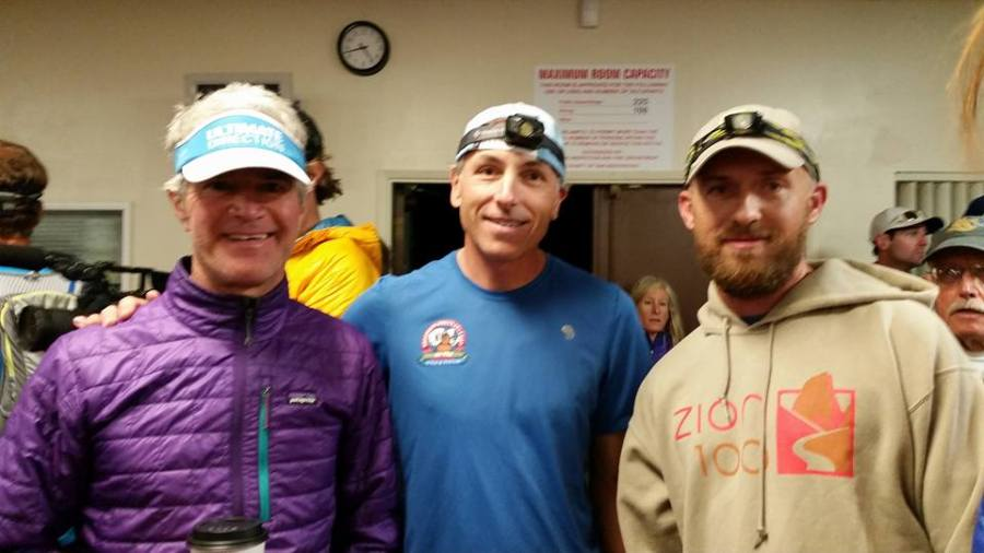 Me with Howie Stern and Billy Simpson before the start of the 2015 Angeles Crest 100. Photo by my wife.