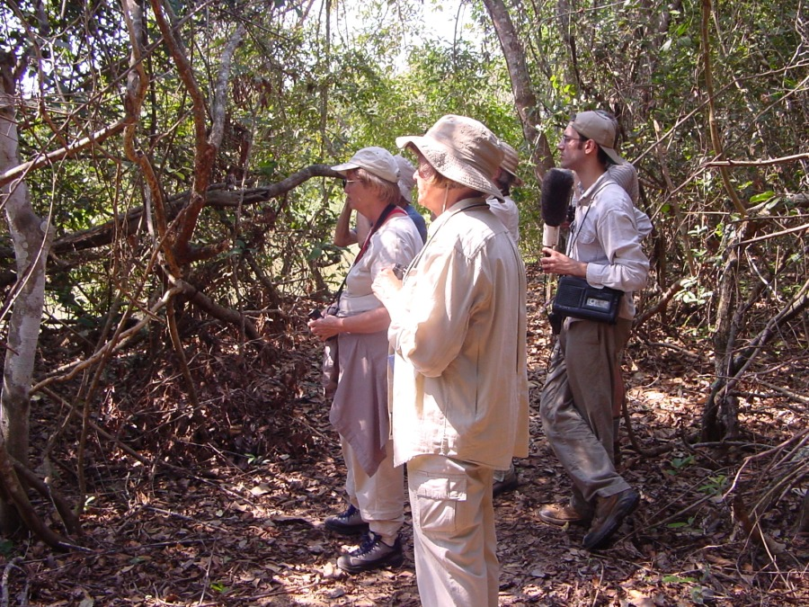 With Juan Mazar Barnett on a tour in Brazil.